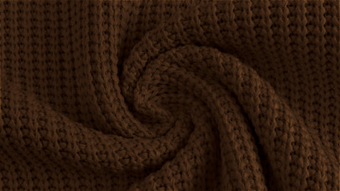 Chocolate Cable Knit