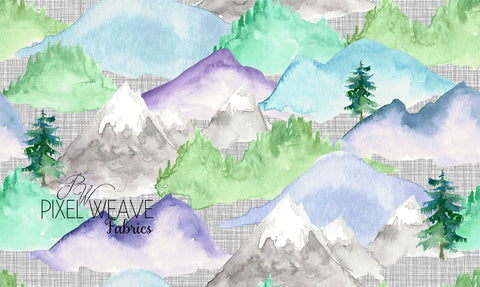 ***Watercolour Mountains