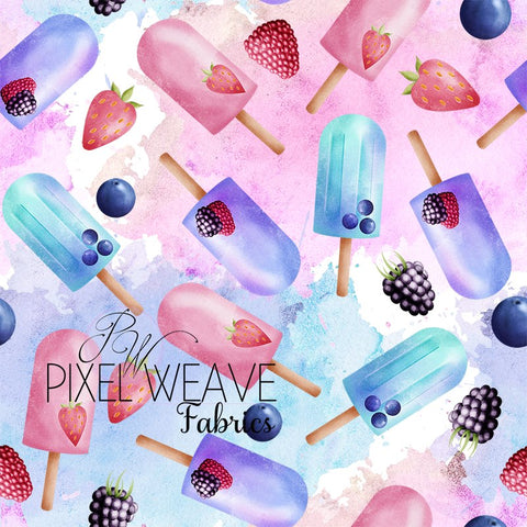 ***Pink Popsicles on Watercolour