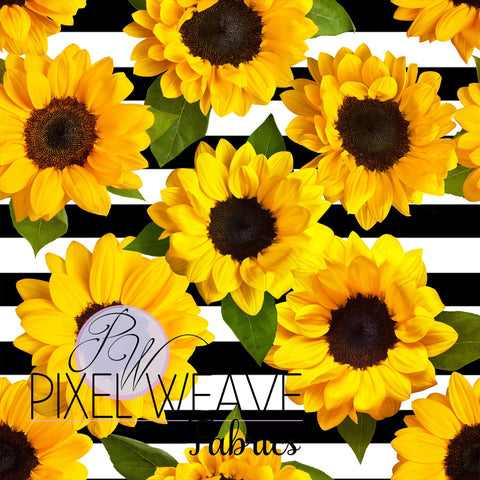 Sunflower on Stripes