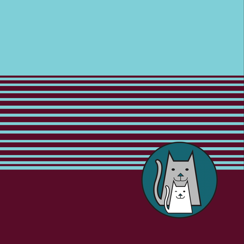 ***Teal and Burgundy Techno Stripes