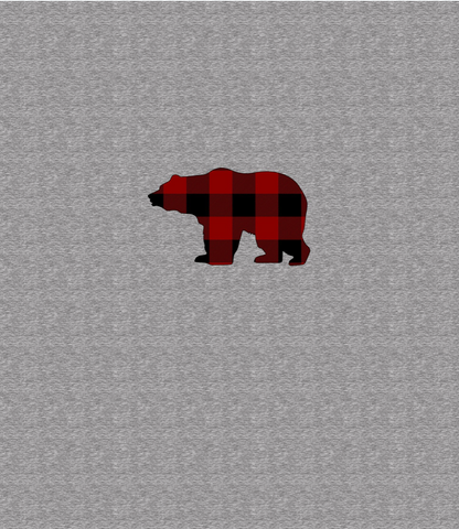 ***Red Plaid Bear Panel