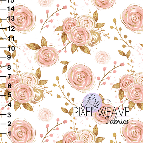 ***Pink and Gold Floral