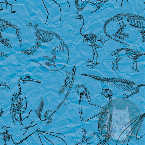 ***Blue Mammal Skeletons
