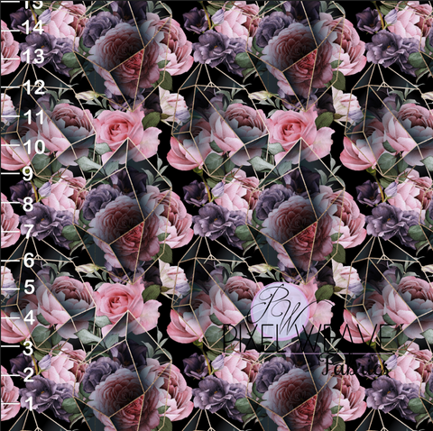 ***Geo and Pink and Purple Floral Dark
