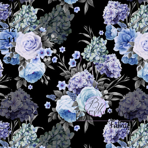 Blue and purple floral