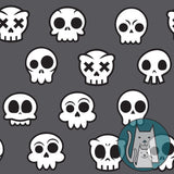 ***Skull Kitty Grey Coordinate