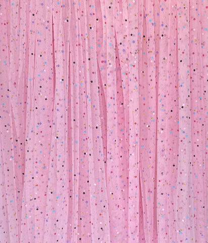 Light Pink Confetti Dot Tulle