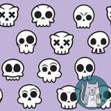 ***Skull Kitty Purple Coordinate