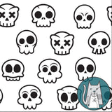 ***Skull Kitty White Coordinate