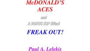 McDonald's Aces and Freak Out! by Paul A. Lelekis Mixed Media DOWNLOAD