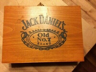Rare Jack Daniel's Old No 7 Playing Cards In Wooden Box