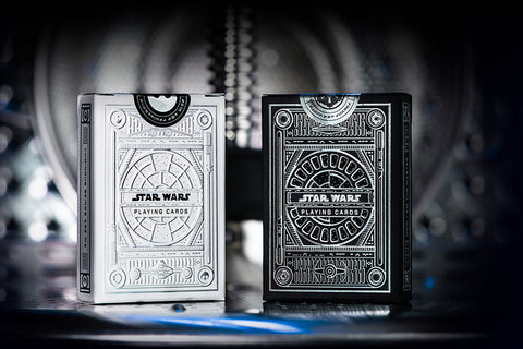 Star Wars Light Side + Dark Side Silver Edition Playing Cards by theory11