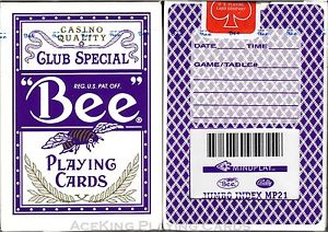 Marked Casino Bee Playing Cards