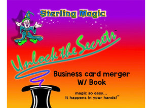 Business Card Merger With Book