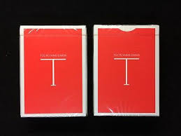 Classic T Red Playing Cards