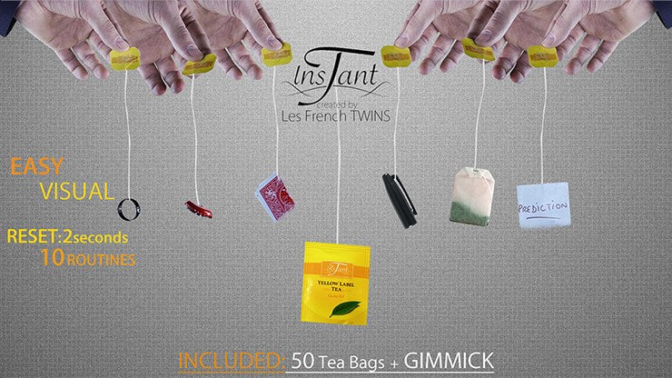 Instant T Red (Gimmicks+Online Instructions) by The French Twins/ Magic Dream