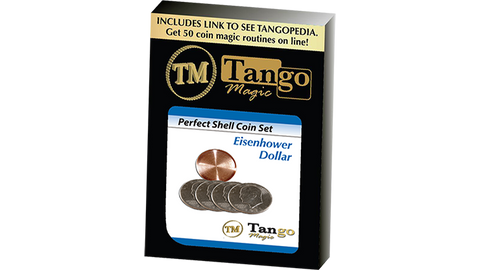 Perfect Shell Coin Set Eisenhower Dollar (Shell and 4 Coins) by Tango Magic