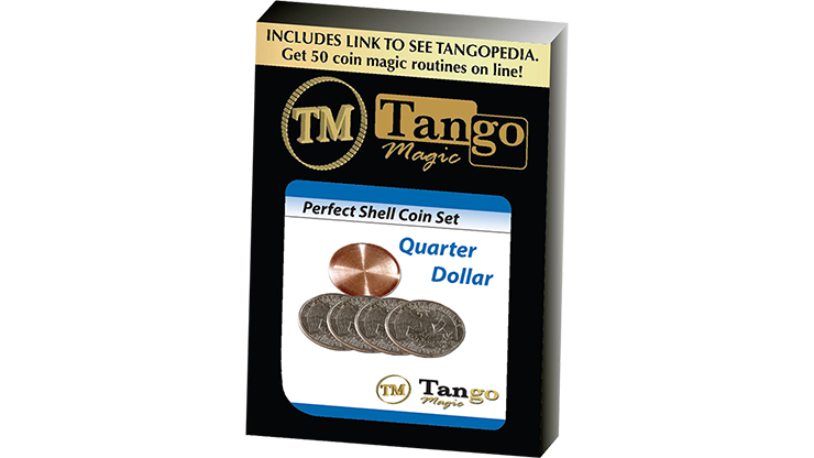 Perfect Shell Coin Set Quarter Dollar (Shell and 4 Coins) by Tango Magic