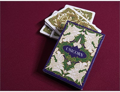 Unicorn Playing Cards (Emerald) by  Aloy Design Studio USPCC