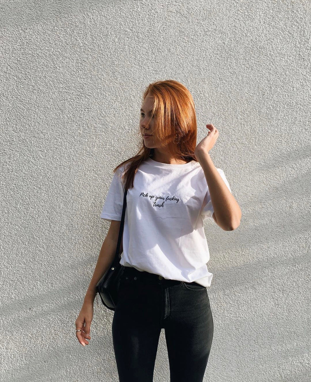 """Trash"" Embroidered T-Shirt"
