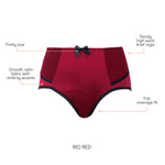 Charlotte High Waist Brief - Rio red