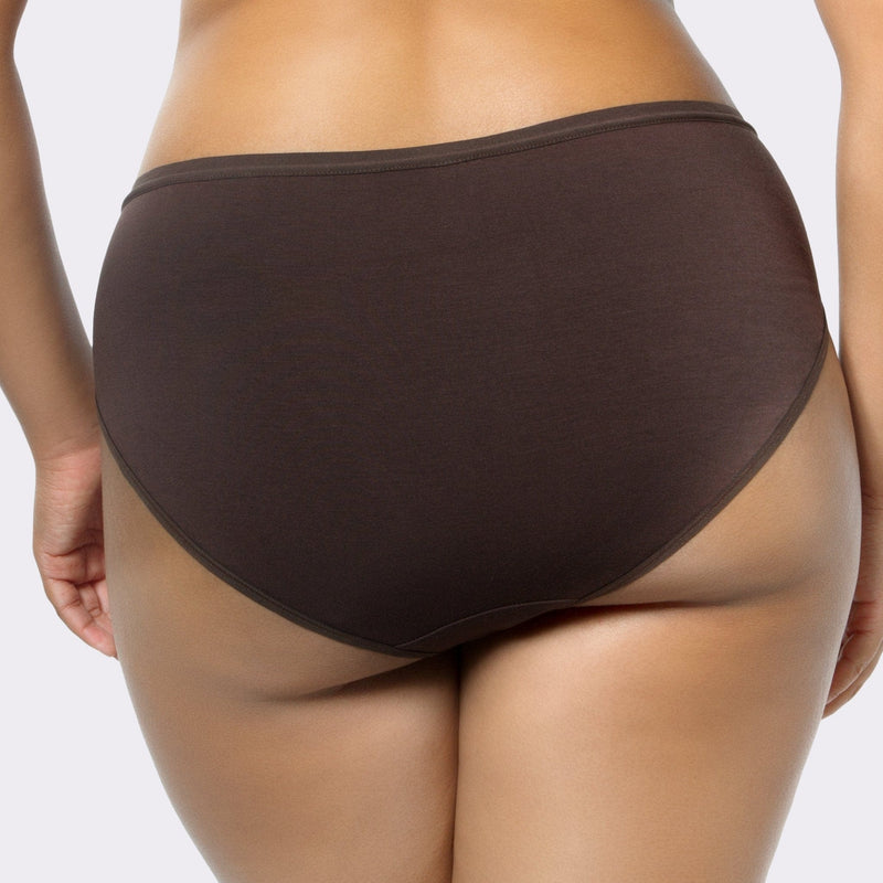 3x Cozy Hipster Panty Pack - Charcoal/Deep Nude/White