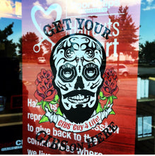 Load image into Gallery viewer, INSIDE Window Decal Sticker: GIBS SUGAR SKULL