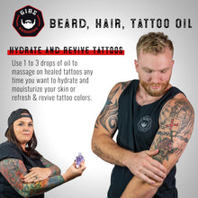 Load image into Gallery viewer, Voodoo Prince Beard, Hair & Tattoo Oil -  Available in 2 sizes: 1oz. & 4oz.