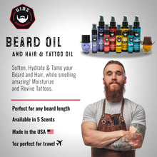 Load image into Gallery viewer, Manscaper Beard, Hair & Tattoo Oil - Available in 2 sizes: 1oz. & 4oz.