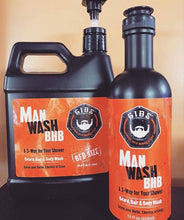 Load image into Gallery viewer, Man Wash BHB  3-In-1  (Liter Size)