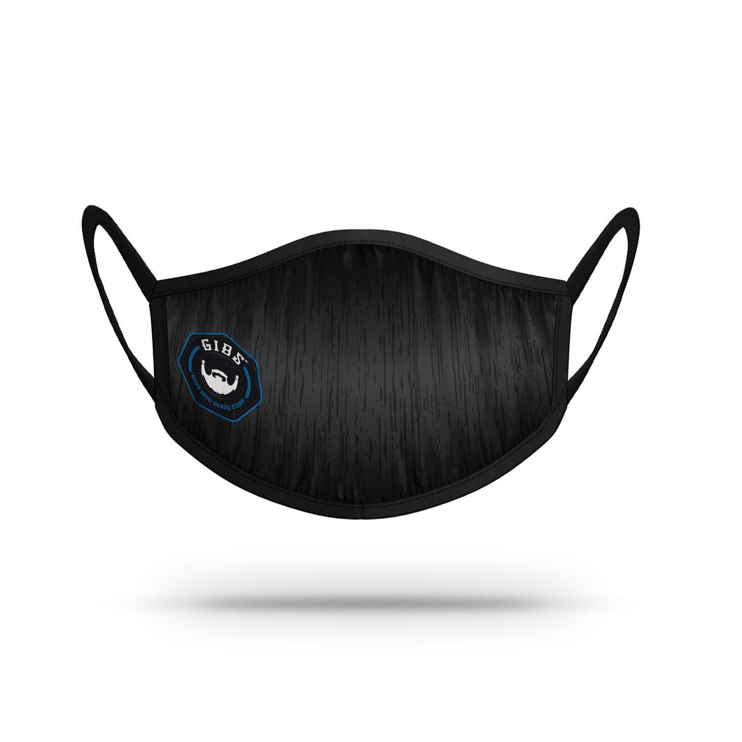 Mask -  Black with BLUE GIBS LOGO
