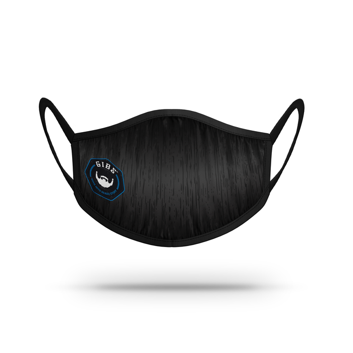 Mask -  Black with BLUE GIBS LOGO (FREE SHIPPING)