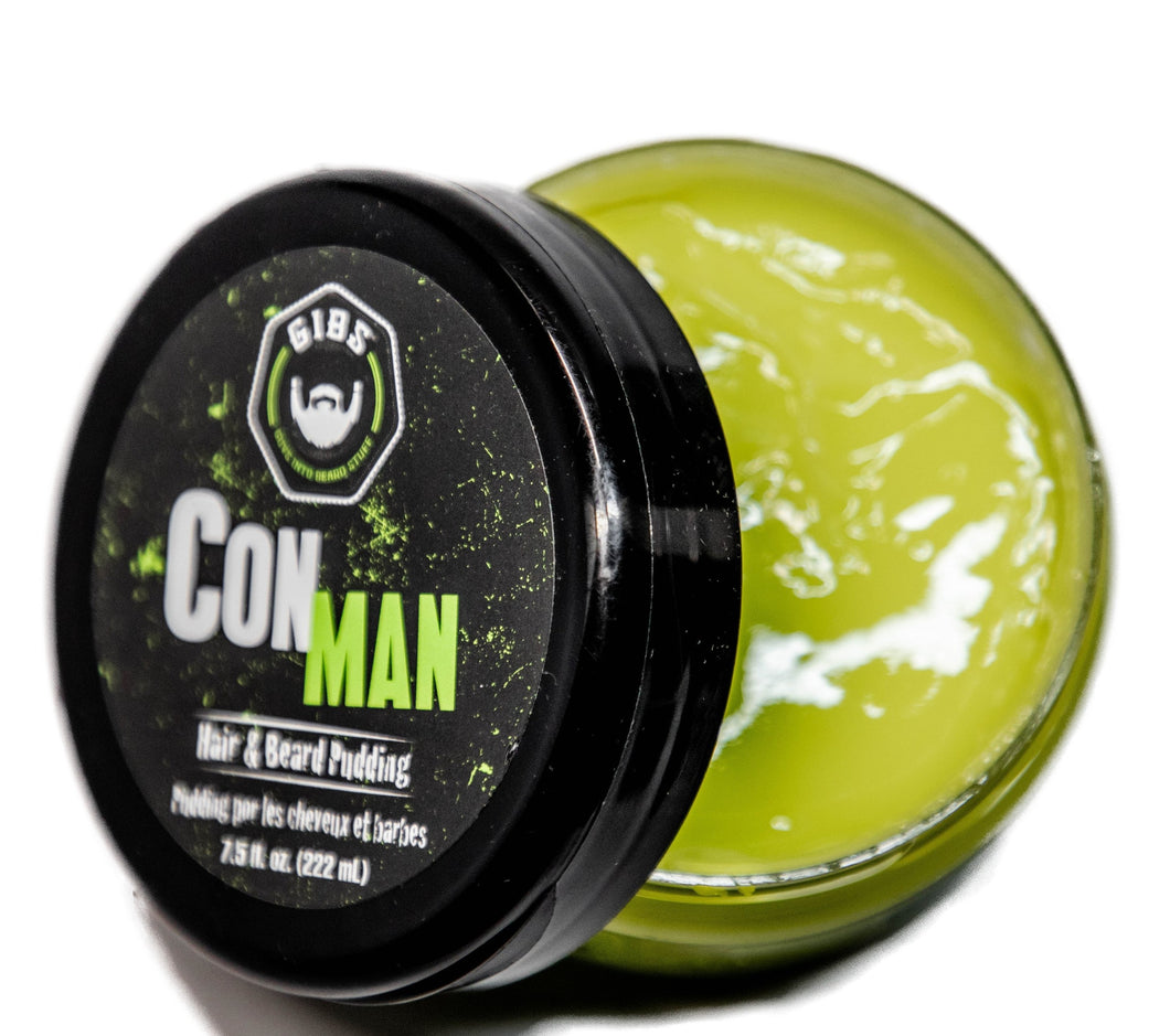 Con Man Hair Pudding -  Available in 2 sizes:  7.5oz. & 19oz.
