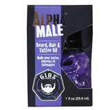 Alpha Male Beard, Hair & Tattoo Oil in Glass Skull