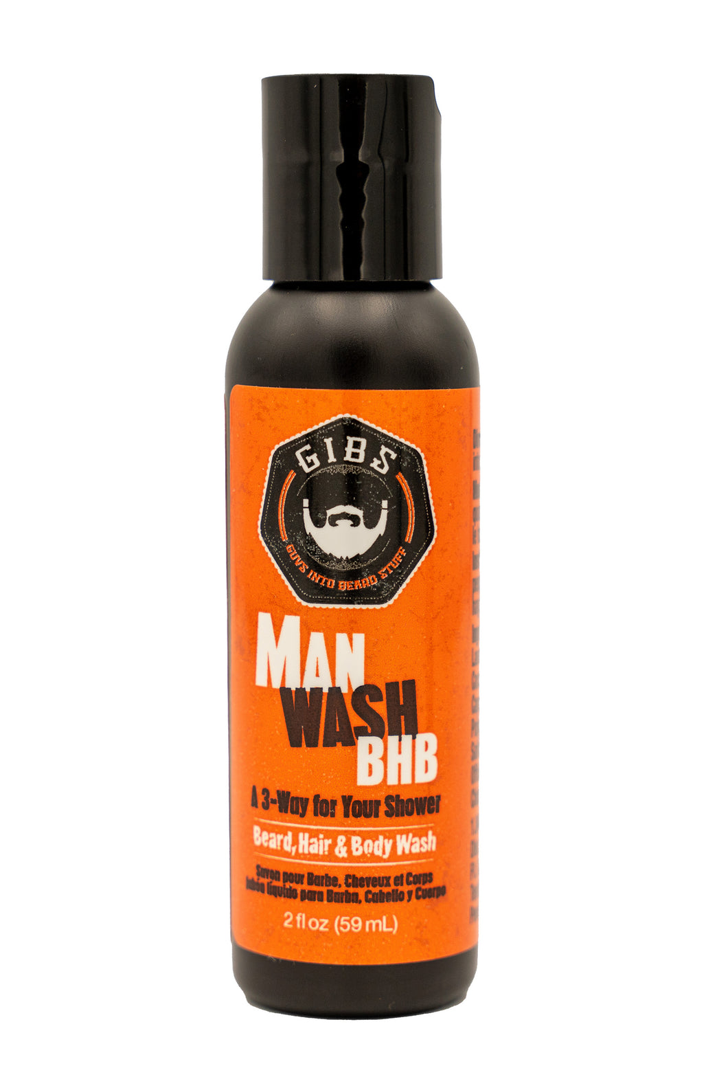Man Wash BHB 2oz Travel Size