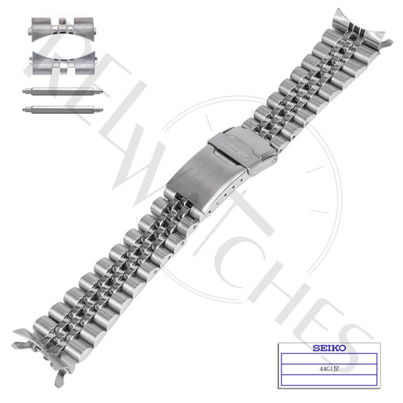 SEIKO 44G1JZ 22mm Stainless Steel Jubilee Watch Band
