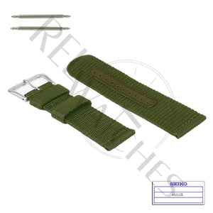 SEIKO 4A212JL 22mm Green Nylon Watch Band