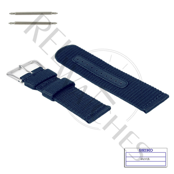 SEIKO 4A215JL 22mm Blue Nylon Watch Band