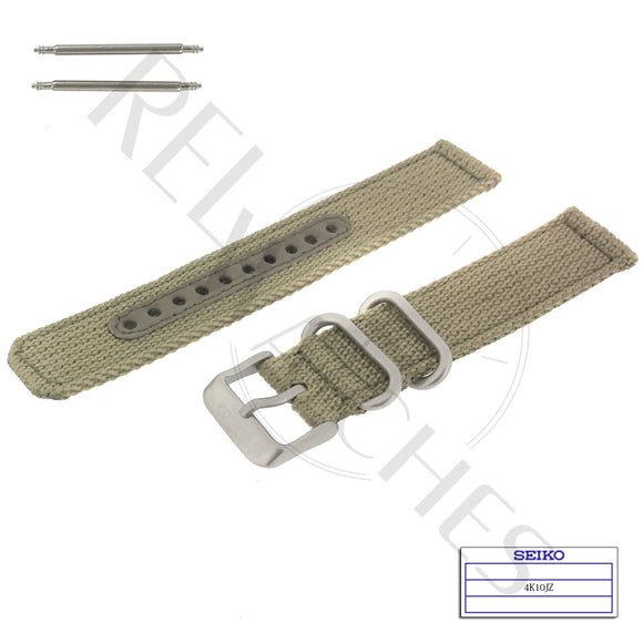 SEIKO 4K10JZ 18mm Beige Nylon Watch Band