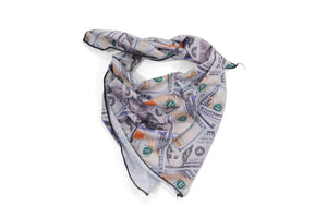 'Blue Hundreds' Collage Bandana