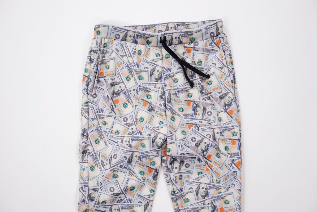 'Blue Hundreds' Collage Joggers