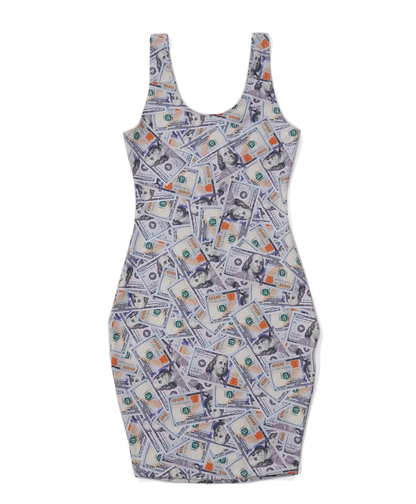 Collage Bodycon Dress, casual dress, hype dress, designer dress, unique dress