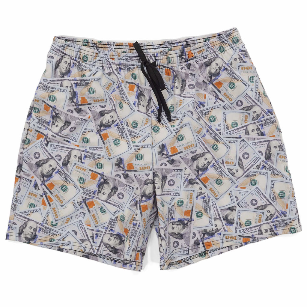 Blue Hundreds Swim Trunks