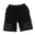 "Black ""Rich"" Shorts by Twenty1Rich (Front)"