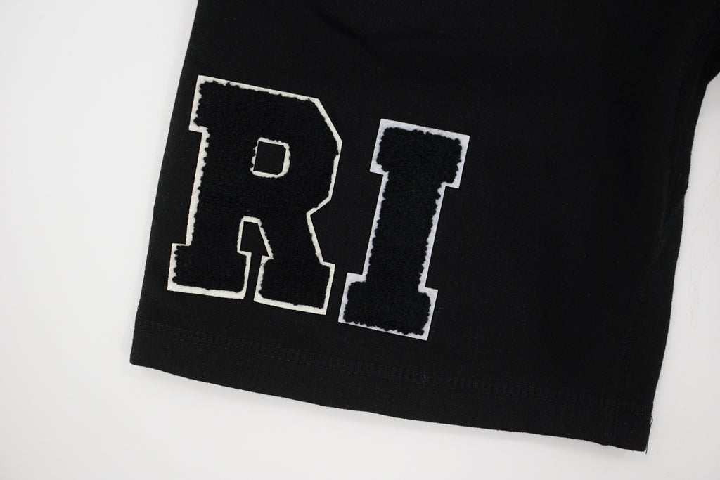 Black 'RICH' Shorts