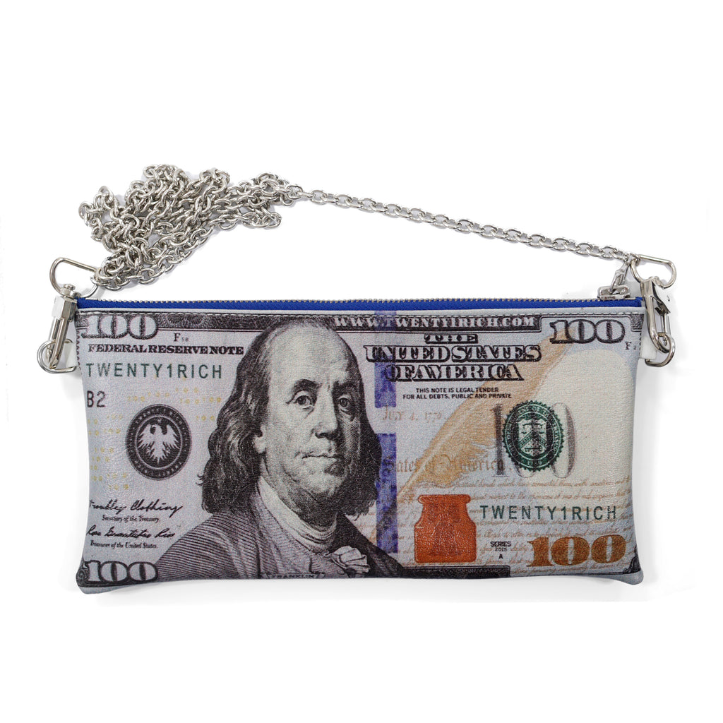 'Blue Hundreds' Clutch Purse