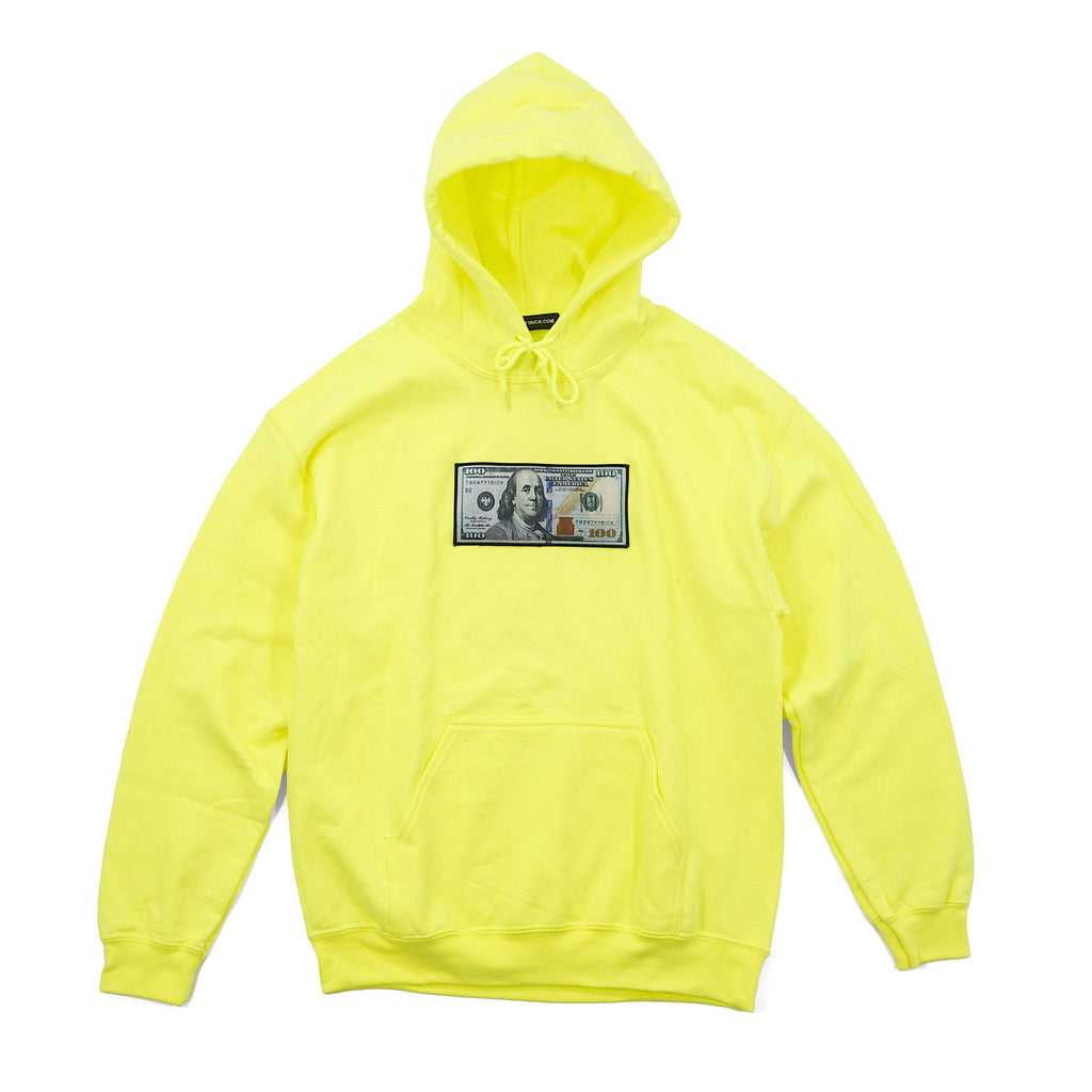 Highlighter Hoodie by Twenty1Rich with a $100 logo
