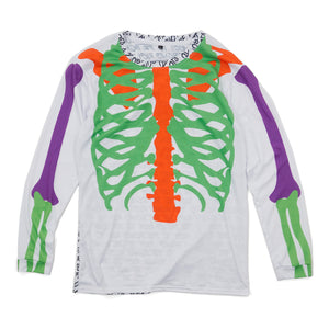 Rich to the Bones White Long Sleeve Tee