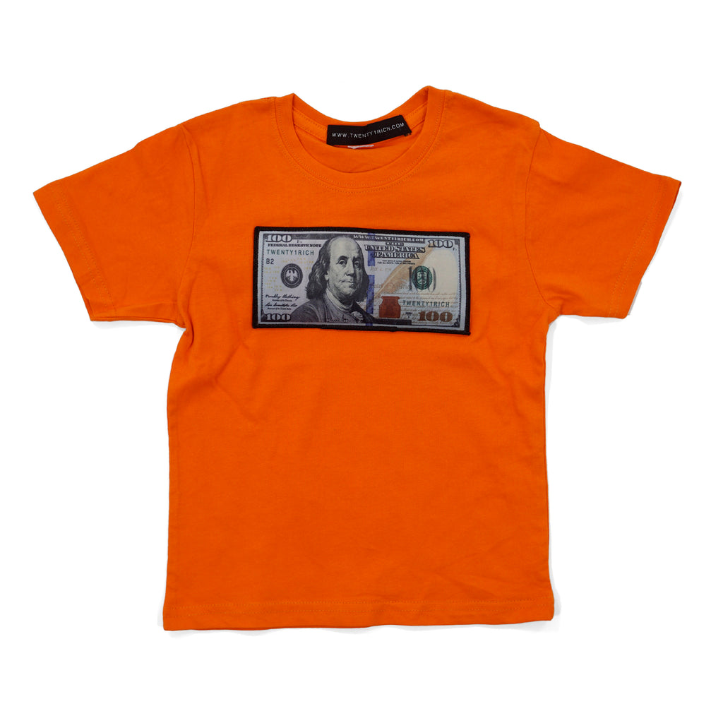 Orange Infant Tee by Twenty1Rich with a $100 logo